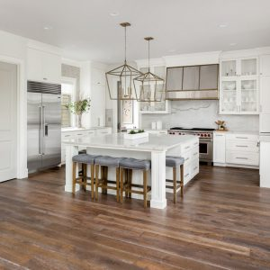 Kitchen with Hardwood Floors by Refined Flooring and Design